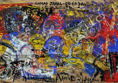 Ahmad Jamal 4 - Gouache on Kraft / 175x225cm