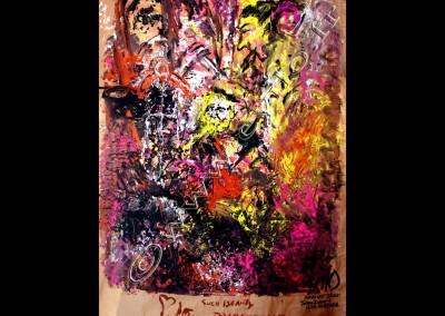 John Zorn - Gouache on Kraft / 320x213cm