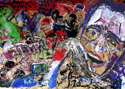 John Zorn - Gouache on Kraft / 160x316cm