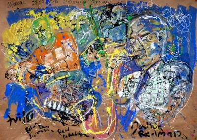 Joshua Redman - Gouache on Kraft / 175x247cm