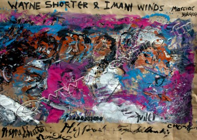 Wayne Shorter - Gouache on Kraft / 160x370cm