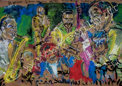Wynton Marsalis Septet - Gouache on Kraft / 174x262cm