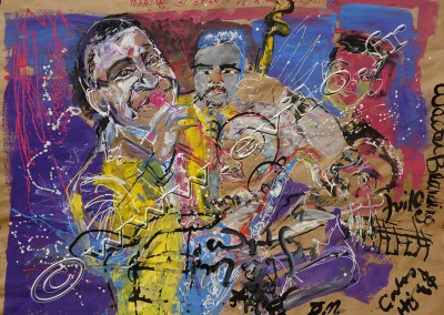 Wynton Marsalis - Gouache on Kraft / 175x239cm