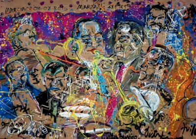 Wynton Marsalis - Gouache on Kraft / 175x264cm