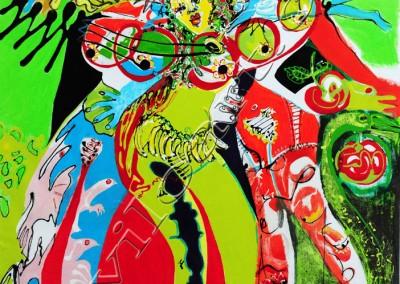 3 Graces - Acrylic sur toile on canvas / 73x51cm