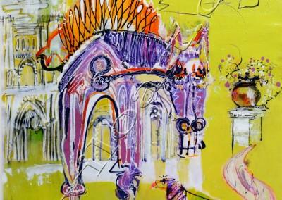 Andalou - Acrylic sur toile on canvas / 74x52cm