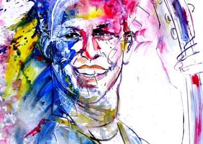Avishai Cohen - Gouache sur Papier on Paper / 42x29,7cm