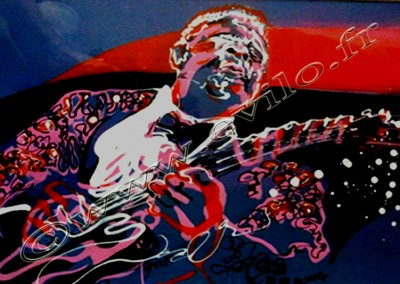 BB King - Acrylic sur Papier on Paper / 20x30cm