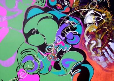 Bb1 - Acrylique sur toile on canvas / 100cmx100m