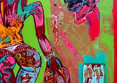Copa Cabana - Acrylic sur toile on canvas / 100x80cm