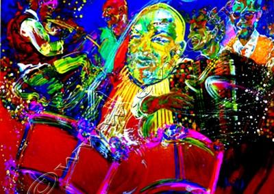 Daniel Humair - Acrylic sur toile o canvas / 80cmx100cm