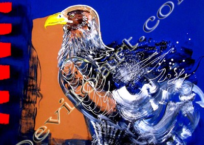 Eagle - Acrylique sur toile on canvas / 100cmx100m