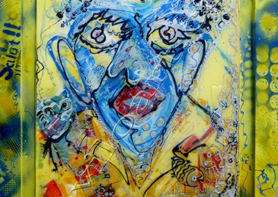 Fisherman - AcrylicResin sur toile on canvas / 94x74cm