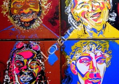 Four Faces - Acrylique sur toile on canvas / 100cmx100m