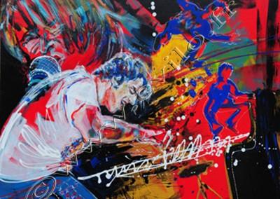 Jamie Cullum - Acrylic sur toile on canvas / 80cmx100cm