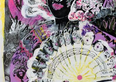 La Menine - Acrylic sur toile on canvas / 70x49cm