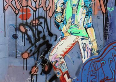 Le Musicien - Acrylic sur toile on canvas / 100x80cm