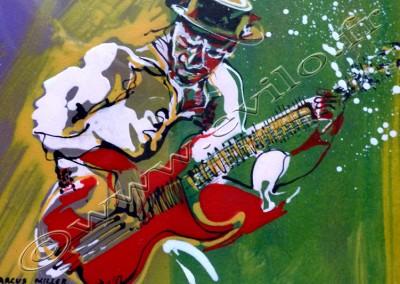 Marcus Miller - Acrylic sur Papier on Paper / 20x30cm