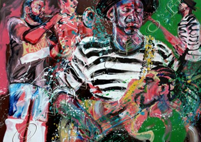 Marcus Miller - Acrylic sur toile on canvas / 80cmx100cm
