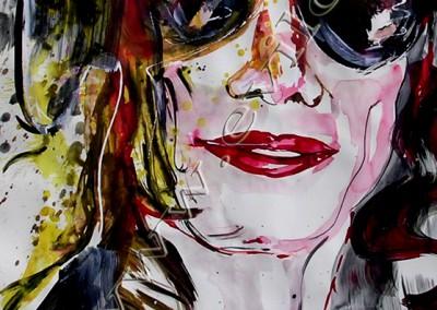 Michael Jackson - Gouache sur Papier on Paper / 42x29,7cm