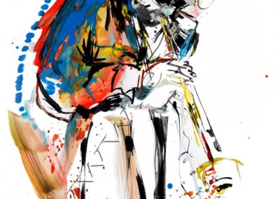 Miles Davis - Gouache sur Papier on Paper / 42x29,7cm