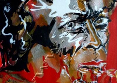 Miles Davis - Acrylic sur Papier on Paper / 20x30cm