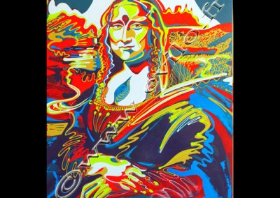 Mona lisa - Acrylique sur toile on canvas / 100cmx80cm