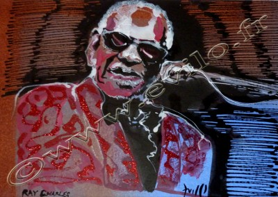 Ray Charles - Acrylic sur Papier on Paper / 20x30cm