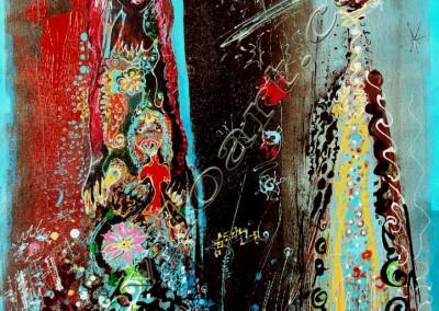 Sirene - Acrylic sur toile on canvas / 74x52cm