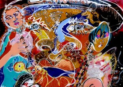 Slammer - Acrylic Resin sur toile on canvas / 77x58cm