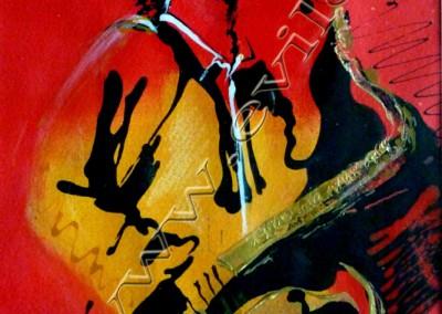 Sonny Rollins - Acrylic sur Papier on Paper / 30x20cm