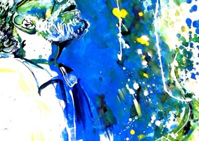 Sonny Rollins - Gouache sur Papier on Paper / 42x29,7cm
