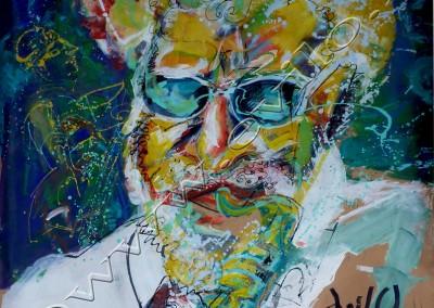 Sonny Rollins - Acrylic sur Papier on Kraftpaper / 168x190cm