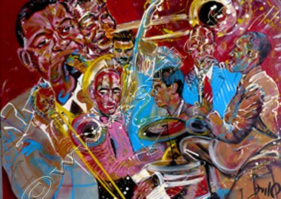 Wynton Marsalis 1 - Acrylic sur toile on canvas / 80cmx100cm