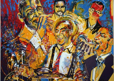 Wynton Marsalis 2 - Acrylic sur toile on canvas / 80cmx100cm