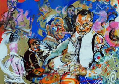 Wynton Marsalis 3 - Acrylic sur toile on canvas / 80cmx100cm