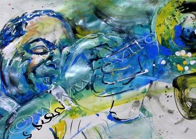 Wynton Marsalis - Gouache sur Papier on Paper / 29,7x42cm