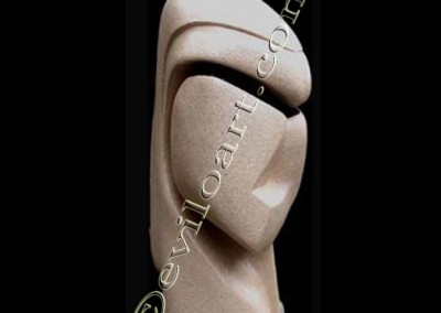 Dame de Brassempouy - Beton cellulaire Acrylique Resine / environ-60cm