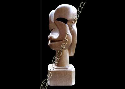 Femme dhier et daujourdhu - Beton cellulaire Acrylique Resine / environ-60cm