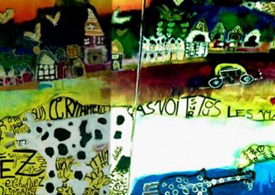 atelier enfants clap 08 - gouache sur Kraft