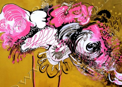 Bouquet 1 - Acrylic sur toile on canvas / 100x100cm
