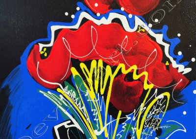 Bouquet 3 Life - Acrylic sur toile on canvas / 50x50cm