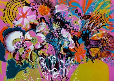 Bouquet 4 - Acrylic sur toile on canvas / 100x100cm