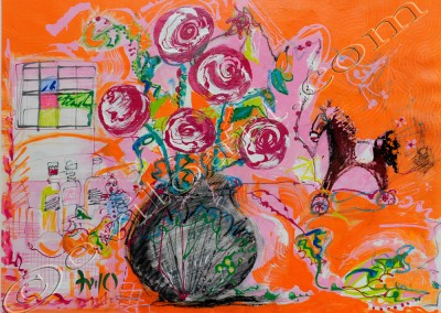 Bouquet 7 - Acrylic sur toile on canvas / 54x74cm