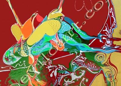 Nature Morte aux Poulets - Acrylique sur toile on canvas / 1mx1m