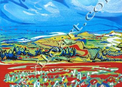 Coquelicots - Acrylique sur toile on canvas / 50x50cm