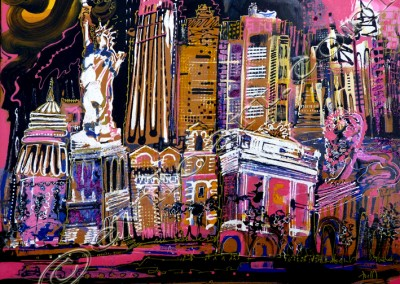 Golden NYC - Acrylic sur toile on canvas / 30x40cm