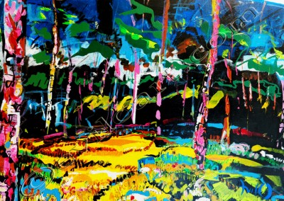 Landes2 - Acrylic sur toile on canvas / 80x110cm