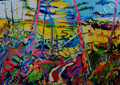 Landes3 - Acrylic sur toile on canvas / 80x100cm