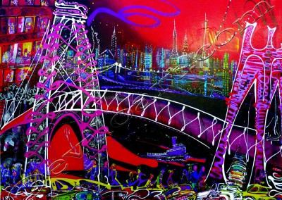 New York Bridges - Acrylic sur toile on canvas / 97x140cm